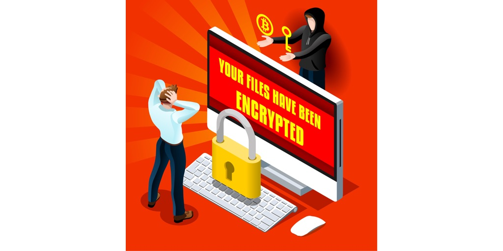 Ransomware Malware Cyber Crime Illustration