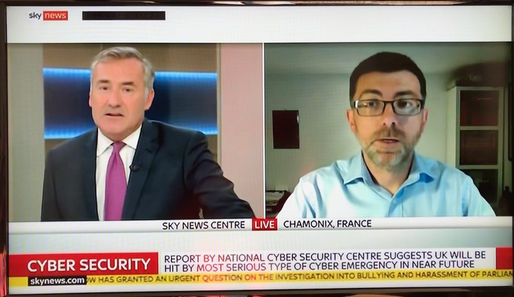 Photo of Sky News Interview 16/10/2018
