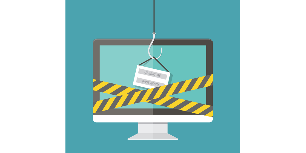 Phishing, hacking login and password, internet security concept